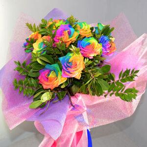 Μπιουκέτο Τριαντάφυλλα Rainbow