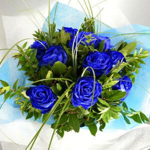 Μπουκέτο Μπλέ Τριαντάφυλλα