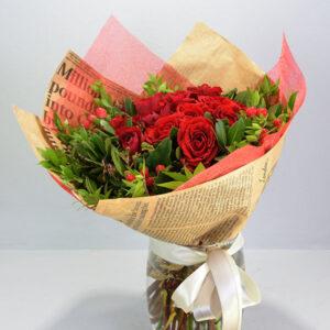 Κόκκινο Μπουκέτο Τριαντάφυλλα