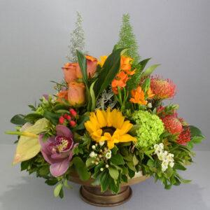 Αποστολή Λουλουδιών Σύνθεση Με Ηλίανθους