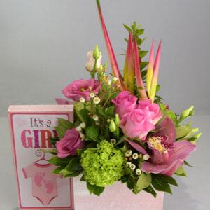 Σύνθεση Λουλουδιών Για Κορίτσι