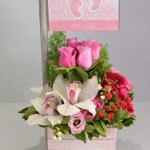 Αποστολή Λουλουδιών - Σύνθεση Λουλουδιών Για Γέννηση Κοριτσιού