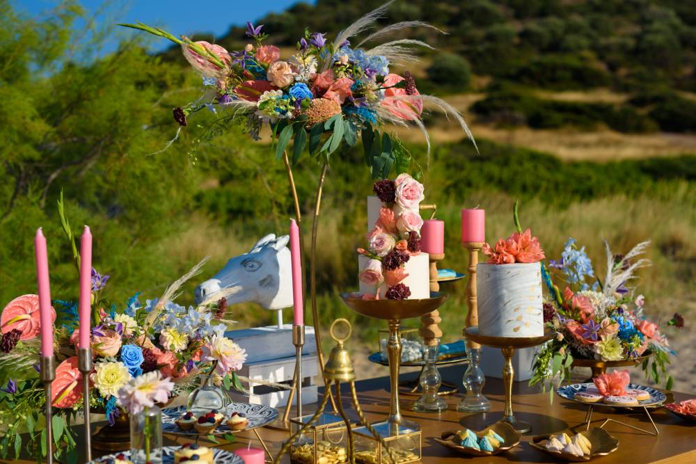 Beachside Color Burst Wedding