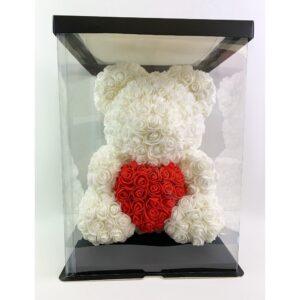 Μεγάλο Λευκό & Κόκκινο Forever Teddy Bear