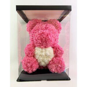 Μεγάλο Ροζ & Λευκό Forever Teddy Bear