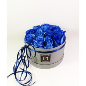 Blue Roses in Box