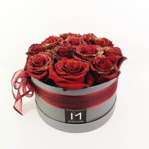 Κόκκινα Τριαντάφυλλα με Glitter