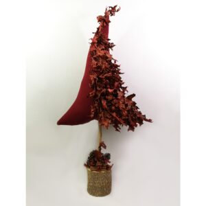 Christmas Pillow Δεντράκι Κόκκινο Red Leaves
