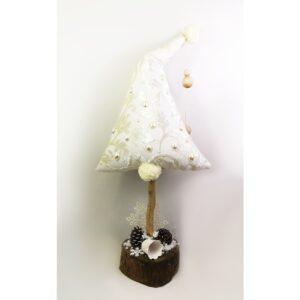 Christmas Pillow Δεντράκι Λευκό Ανάγλυφο