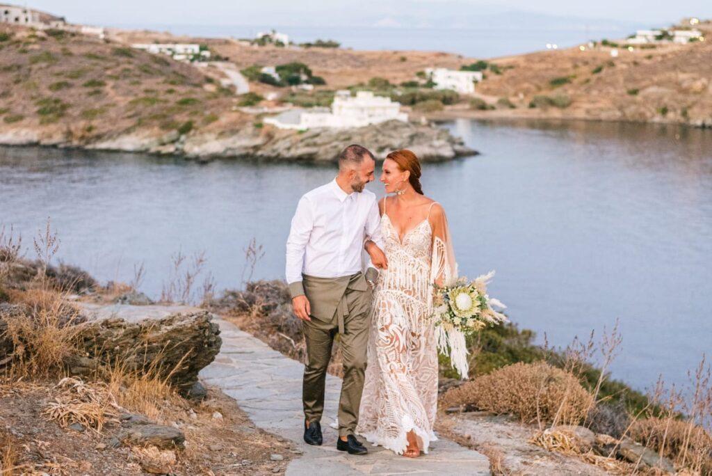 Boho Summer Wedding at Sifnos