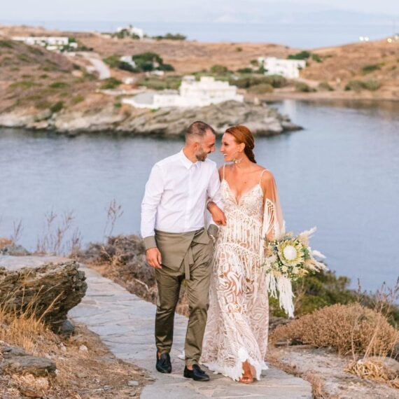 Boho Summer Wedding at Sifnos