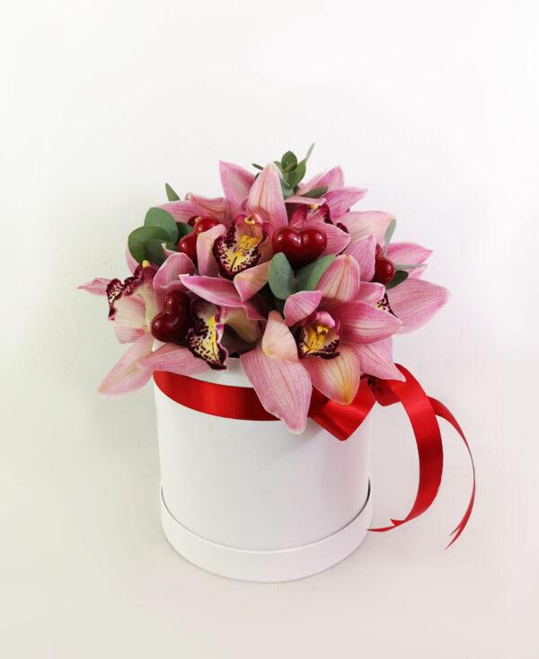Ροζ Ορχιδέες σε κουτί